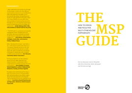MSP guide T-learning